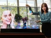 Samsung montre ses écrans transparents et miroirs